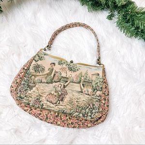 Vintage Victorian portrait mini purse